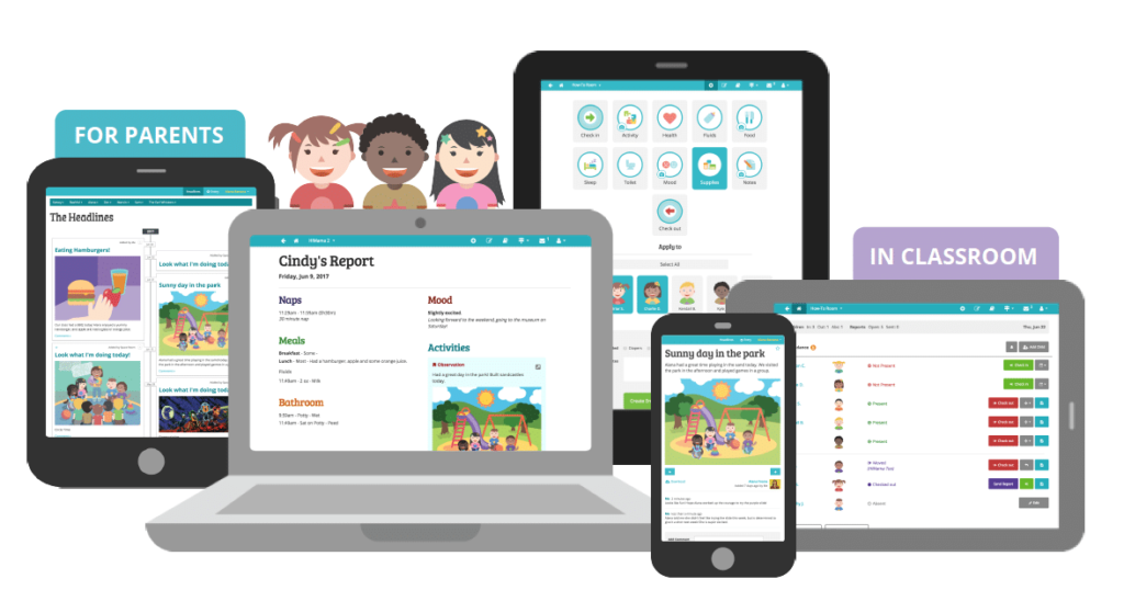child care app for parent involvement in preschool