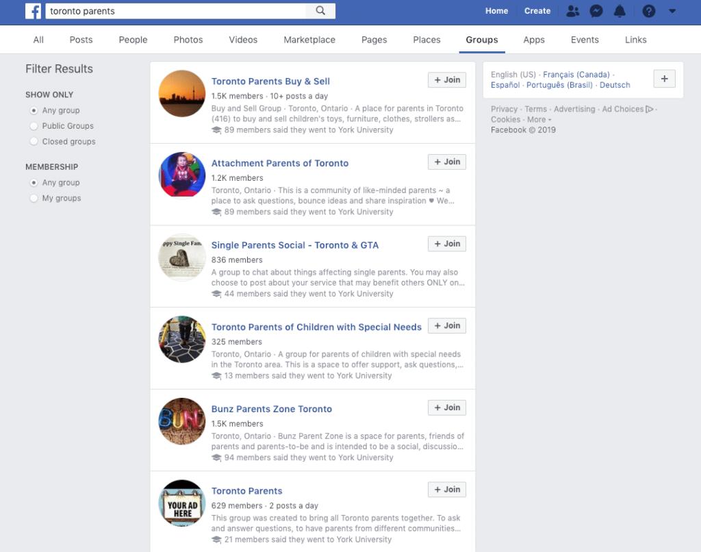 facebook marketing for home daycares