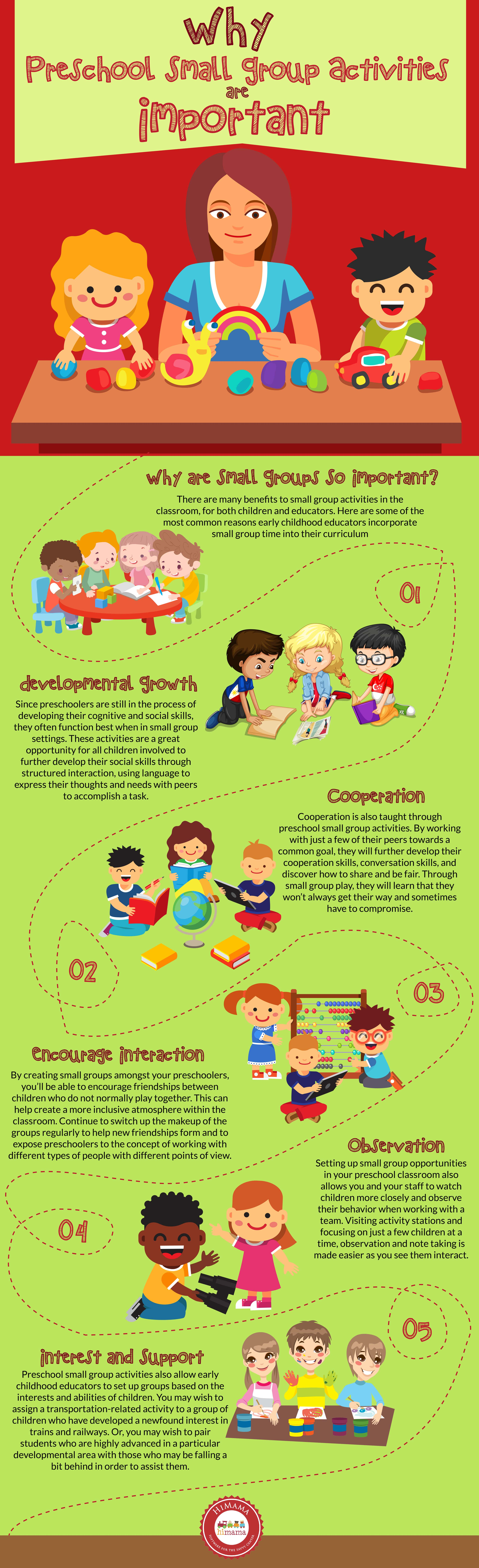 why preschool small group activities are important