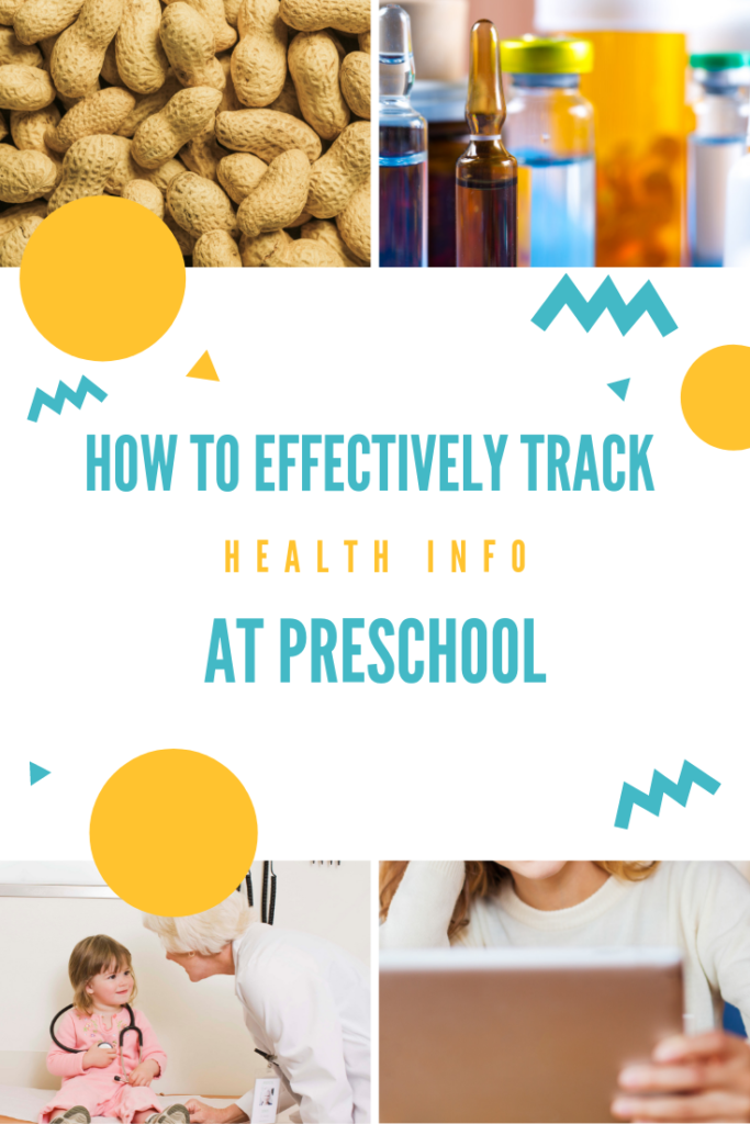 how to effectively track health info at preschool