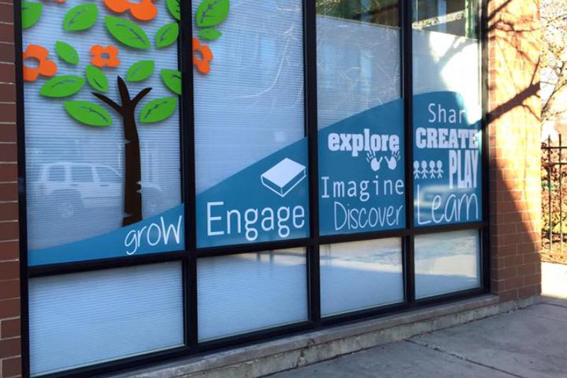 children's creative center entrance