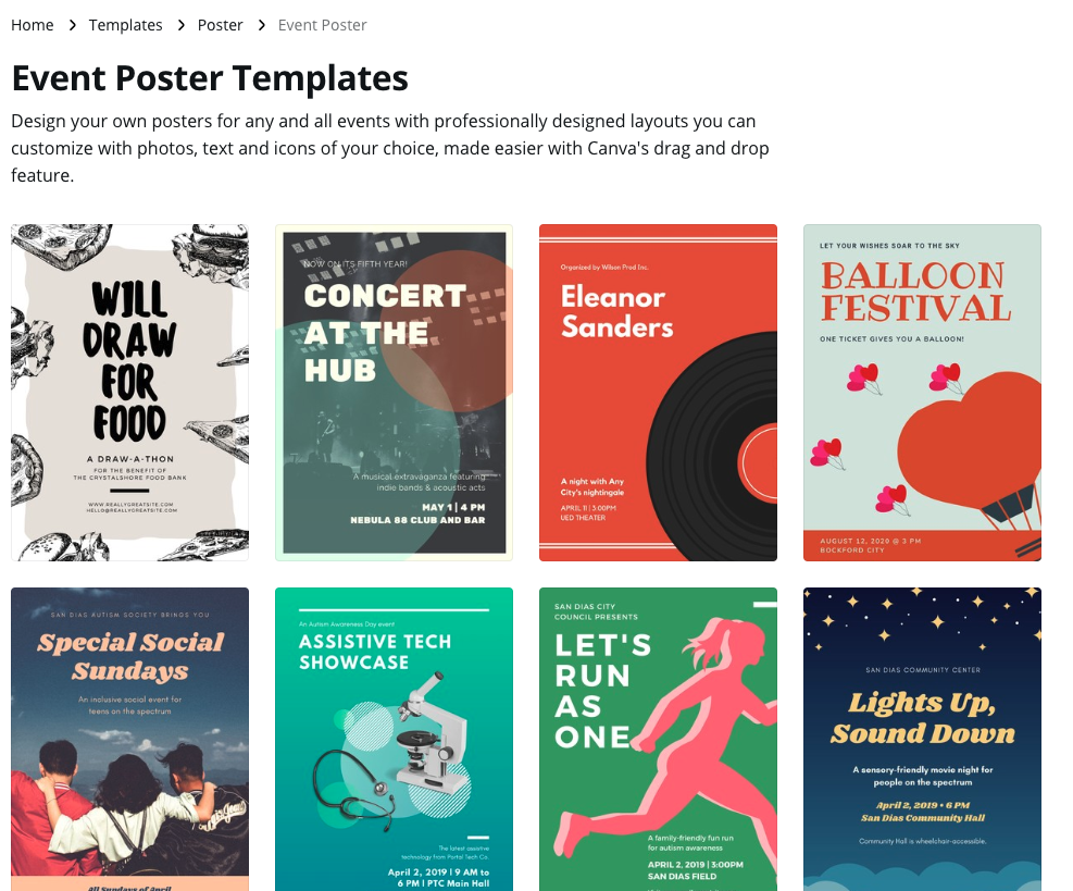 event poster templates