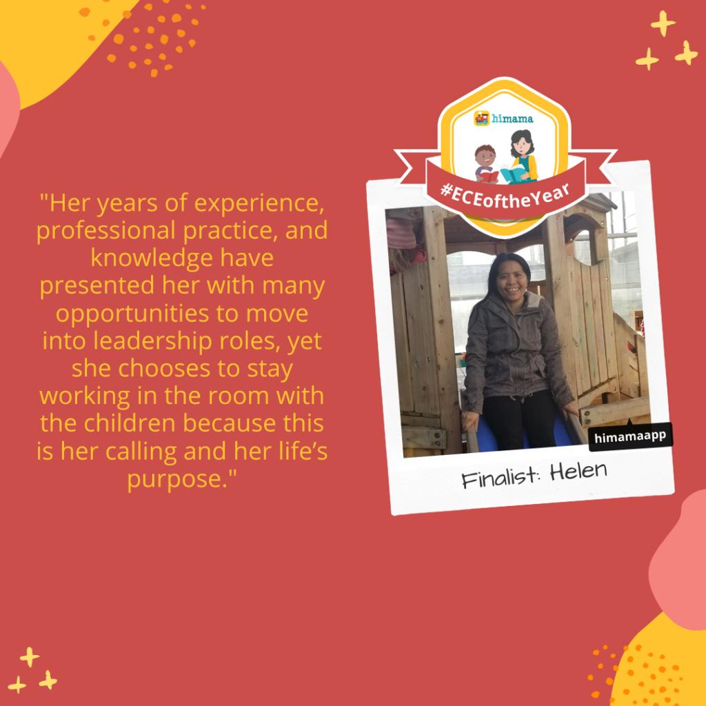 ECE of the Year finalist: Helen