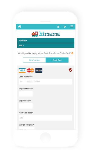 himama online payments