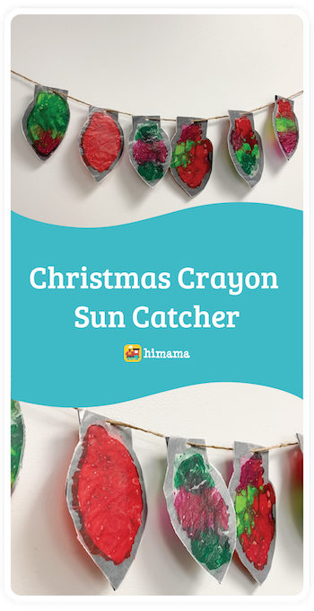 christmas crayon sun catcher daycare activity