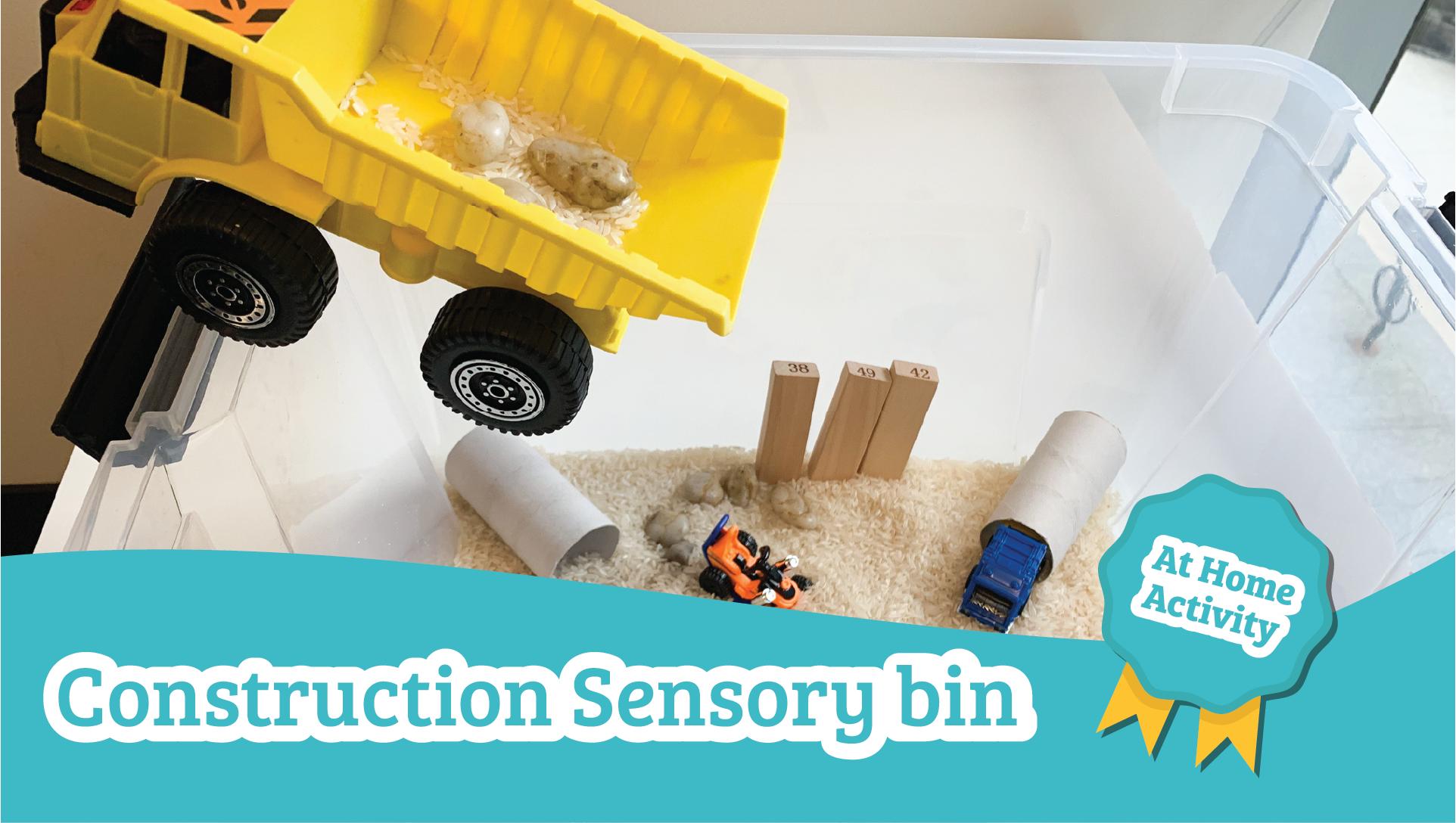construction bin sensory activity