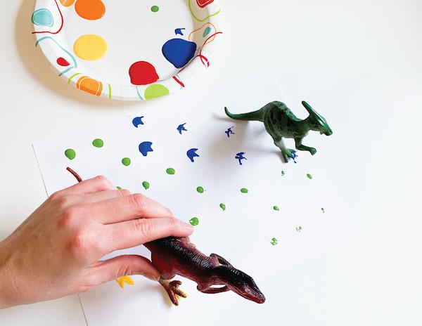 dinosaur footprints preschool activity