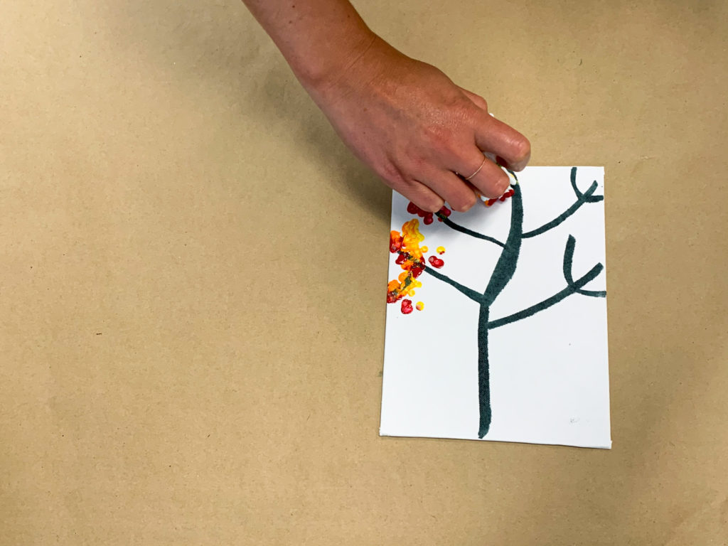 bundled q tip tree fine motor preschool activity for preschoolers and toddlers